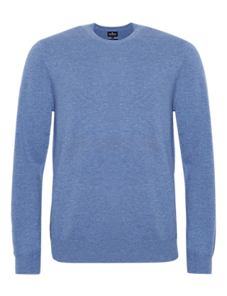Wool Rich Crew Neck Jumper with Cashmere Clothing