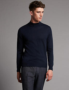 Slim Fit Turtle Neck Long Sleeve Jumper