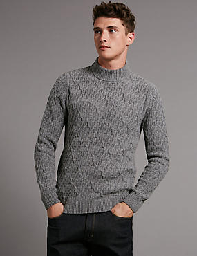 Wool Rich Textured Long Sleeve Jumper
