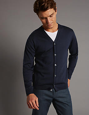 Merino Wool Rich Slim Fit Cardigan