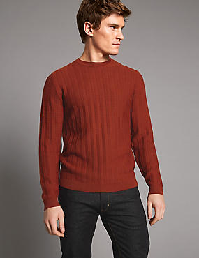 Supima Cotton Rich Textured Slim Fit Jumper