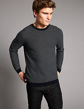 Supima® Cotton Textured Slim Fit Jumper