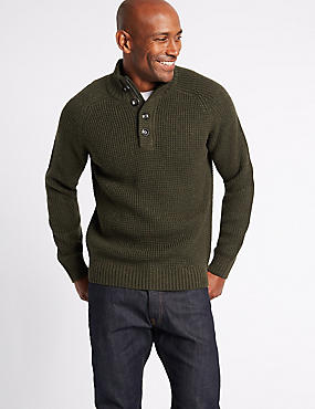 Textured Funnel Neck Jumper