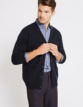 Pure Lambswool V-Neck Cardigan