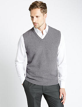 Pure Lambswool V-Neck Slipover