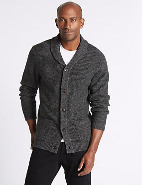 Lambswool Rich Textured Cardigan