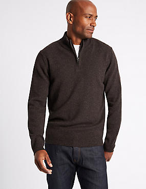 Pure Lambswool Textured Jumper