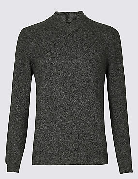 Wool Rich Textured Jumper
