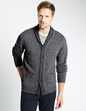 Lambswool Rich Shawl Collar Cardigan