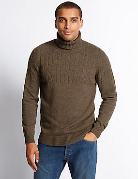 Long Sleeve Textured Jumper with Lambswool