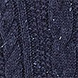 Cable Knit Jumper with Wool, NAVY, swatch