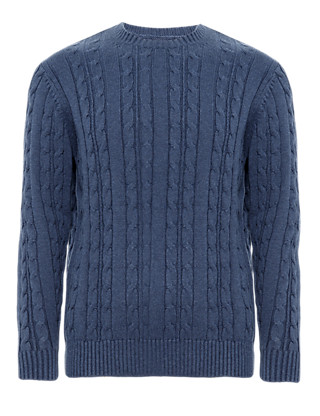 Pure Cotton Cable Knit Jumper Clothing