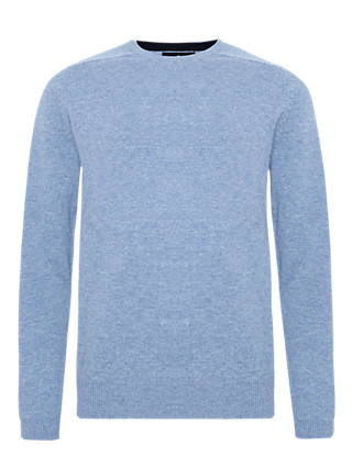 Extrafine Pure Lambswool Crew Neck Jumper Clothing