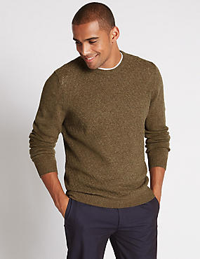 Pure Lambswool Long Sleeve Jumper