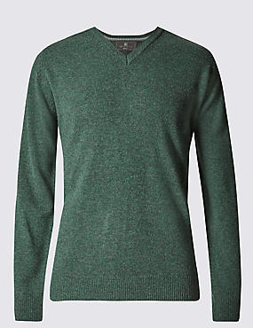 Extra Fine Pure Lambswool V-Neck Jumper
