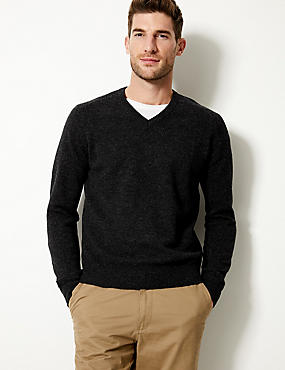 Pure Lambswool V-Neck Jumper