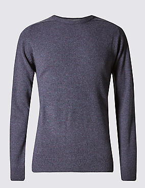 Extra Fine Pure Lambswool Crew Neck Jumper