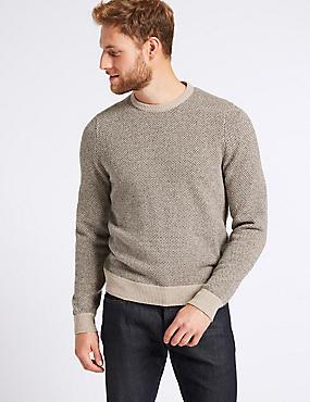 Wool Rich Textured Jumper, NEUTRAL, catlanding