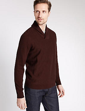 Pure Cotton Herringbone Jumper