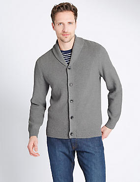 Pure Cotton Textured Cardigan