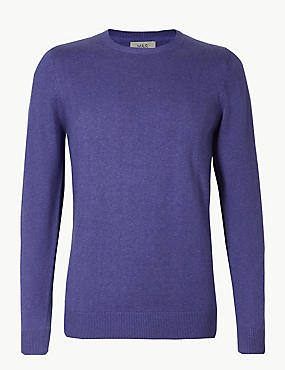 Pure Cotton Crew Neck Jumper, VIOLET, catlanding