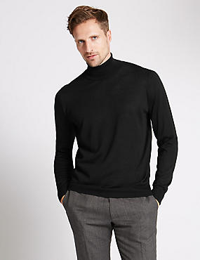 Merino Wool Blend Slim Fit Jumper