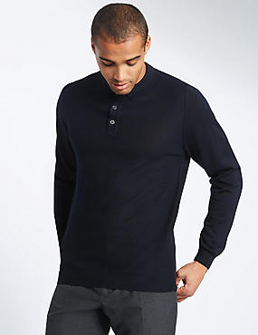 Merino Wool Blend Textured Jumper