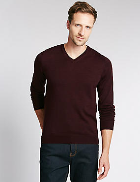Merino Wool Rich Slim Fit Jumper with Silk