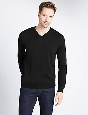 Merino Wool Rich Jumper with Silk