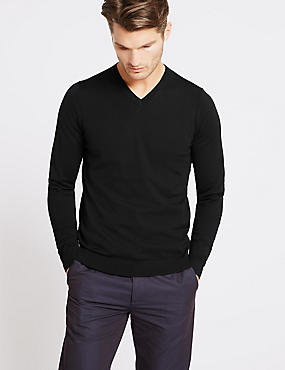 Pure Merino Wool Tailored Fit Jumper