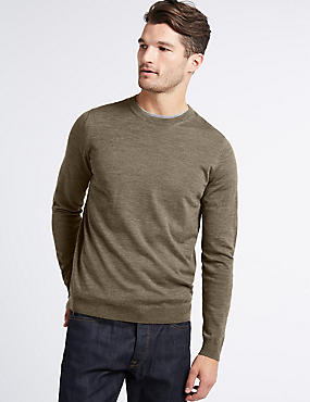 Pure Merino Wool Crew Neck Jumper
