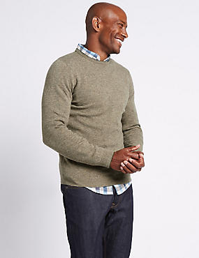 Merino Wool Rich Crew Neck Jumper