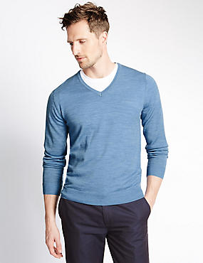 Pure Merino Wool Slim Fit Lightweight Jumper