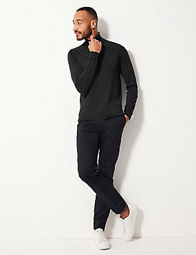 Pure Merino Wool Jumper, CHARCOAL, catlanding