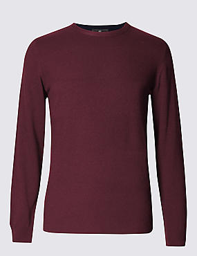Crew Neck Jumper with Cashmere
