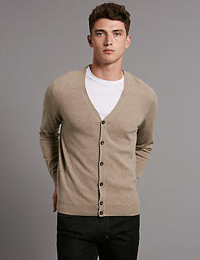 Pure Cashmere V-Neck Button Through Cardigan