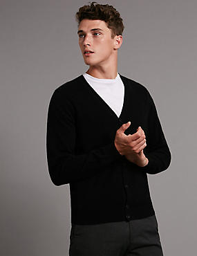 Long Sleeve V-Neck Button Through Cardigan