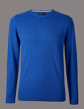 Pure Cashmere Crew Neck Jumper, DARK TEAL, catlanding