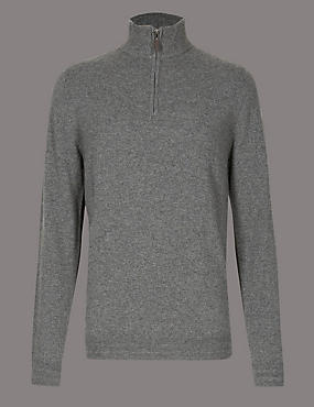 Pure Cashmere Half Zipped Jumper