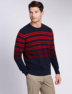 Pure Cotton Nautical Striped Jumper