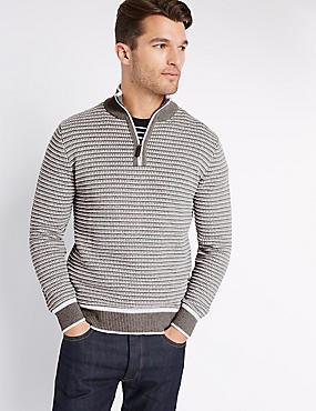 Pure Cotton Textured Jumper