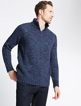 Textured Jumper with Cotton