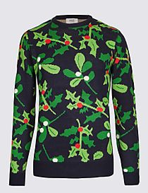Mistletoe and Berries Crew Neck Jumper