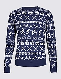 Novelty Crew Neck Jumper