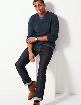 V-Neck Jumper, NAVY MIX, catlanding