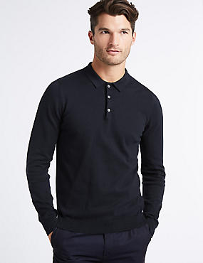 Cotton Rich Textured Polo Shirt