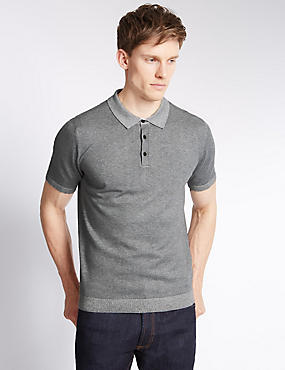 Tailored Fit Knitted Polo Shirt