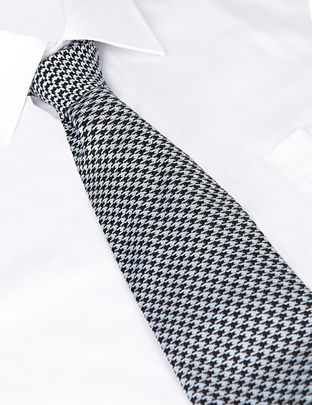 Best of British Dogtooth Silk Tie