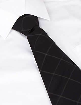 Best of British Windowpane Check Tie Clothing