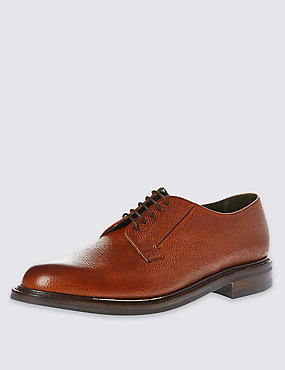 Classic 'Deal' Derby Shoe in Tan Scotchgrain Leather